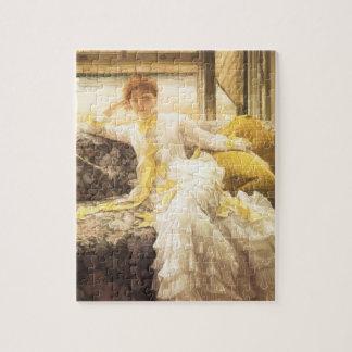 Puzzle Primavera (playa) por James Tissot, retrato del