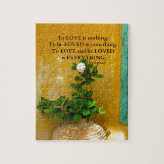 Puzzle proverbio del Griego de la cita del amor del