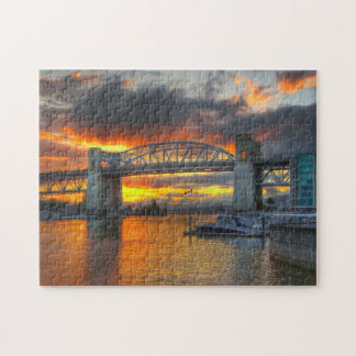 Puzzle Puente Vancouver de la calle de Burrard