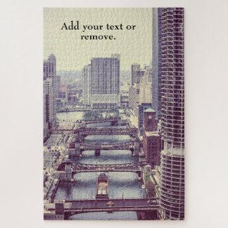 Puzzle Puentes movibles, impulsión de Wacker, Chicago,