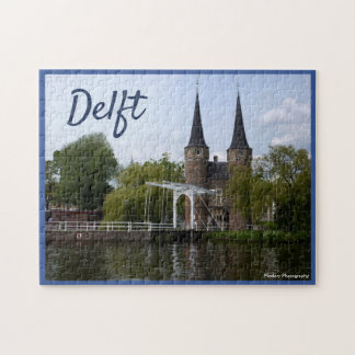 Puzzle Puerta de Delft (Oostpoort) con el texto