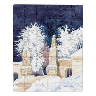 Puzzle Puerta del invierno en la noche