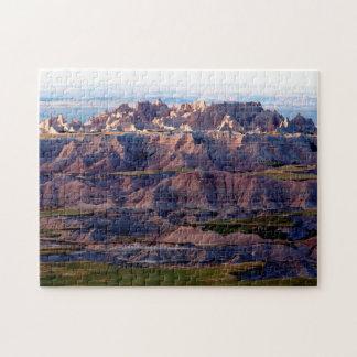 Puzzle Puesta del sol Dakota del Sur de los Badlands.