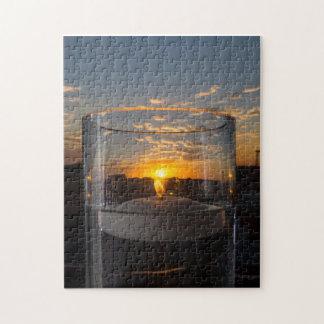Puzzle Puesta del sol de la luz de una vela