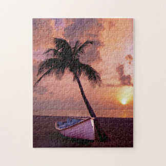 Puzzle Puesta del sol por la palma 11x14