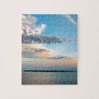 Puzzle Puesta del sol sobre la isla