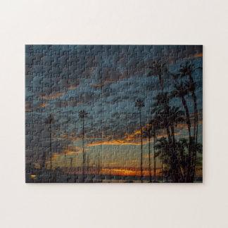 Puzzle Puesta del sol vibrante de San Diego con las