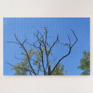 Puzzle Rama seca y el cielo azul
