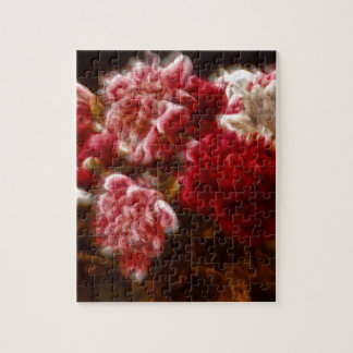 Puzzle Ramo rojo llameante de la flor del Peony