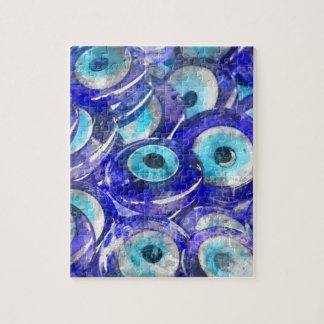 Puzzle Recuerdo azul del mal de ojo vendido en Estambul