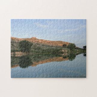 Puzzle REFLEXIÓN en el parque de estado de Scott del lago