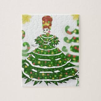 Puzzle Reina del árbol de navidad