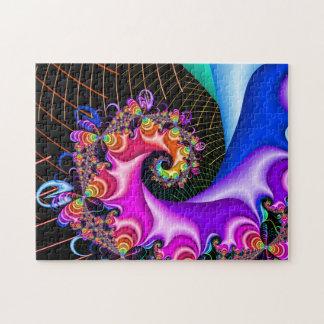 Puzzle Rejilla espiral del fractal