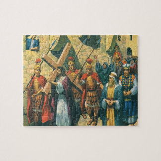 Puzzle Religión del vintage, Cristo que lleva la cruz