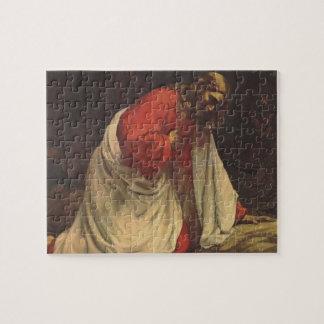 Puzzle Religión del vintage, Jesucristo en Gethsemane