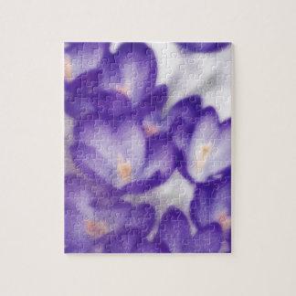 Puzzle Remiendo de la flor del azafrán de la lavanda