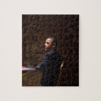 Puzzle Retrato abstracto de presidente Barack Obama 13