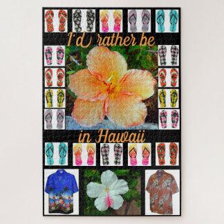 Puzzle Rompecabezas, tapicería hawaiana