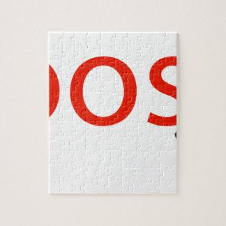 Puzzle ropa del logotipo de la marca del boosh