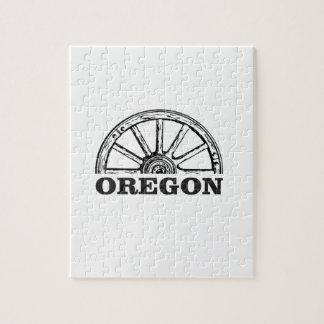 Puzzle rueda simple del rastro de Oregon