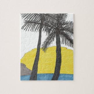 Puzzle Salida del sol de la palmera