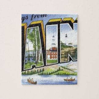 Puzzle Saludos de Maine
