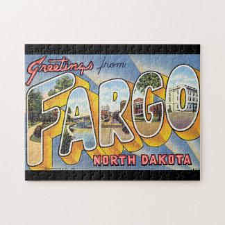 Puzzle Saludos del viaje del norte de Fargo