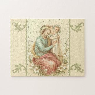 Puzzle San José con los lirios de Jesús del bebé