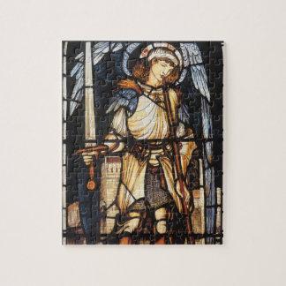 Puzzle San Miguel de Burne Jones, arcángel del vintage