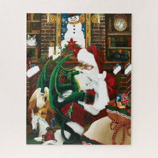 Puzzle Santa con el amigo del dragón