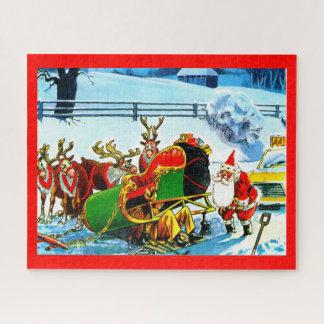 Puzzle Santa y su trineo
