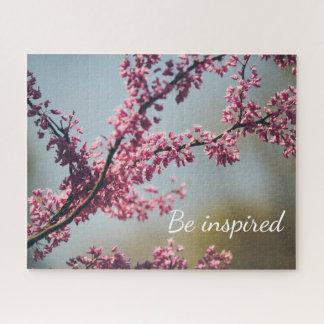 Puzzle Se inspire el paisaje rosado de la naturaleza del