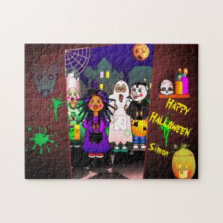 Puzzle Señal o el tratar de los niños de Halloween
