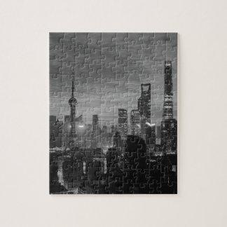 Puzzle Shangai blanco y negro