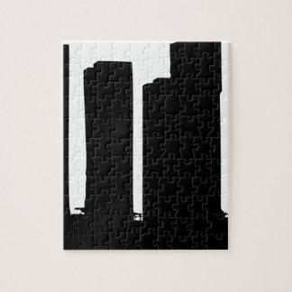 Puzzle Silueta del paisaje urbano