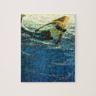 Puzzle Sirena que saluda el amanecer