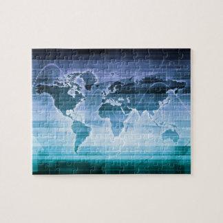 Puzzle Soluciones globales de la tecnología en el