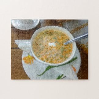 Puzzle Sopa de Vegetabla con crema agria
