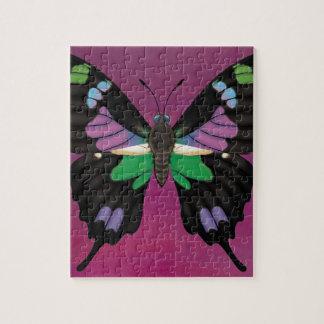 Puzzle Swallowtail manchado púrpura