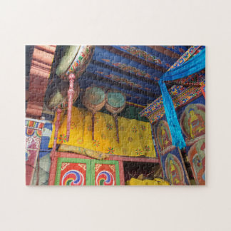 Puzzle Tambores dentro de un templo