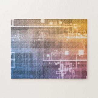 Puzzle Tecnología futurista como arte de la generación