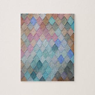 Puzzle Tejas de tejado coloreadas - PaintingZ