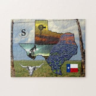 Puzzle Tejas - mapa, tamaño colorido de las fotos 11x14
