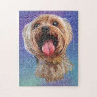 Puzzle Terrier de Yorkshire lindo, yorkie, arte digital