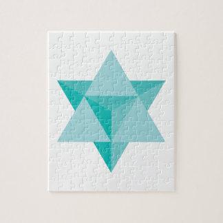 Puzzle Tetraedro de la estrella de Merkaba