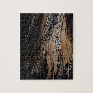 Puzzle Textura quemada de la corteza de árbol