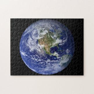 Puzzle Tierra azul del planeta