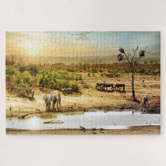Puzzle Tierra surafricana de la fantasía del safari