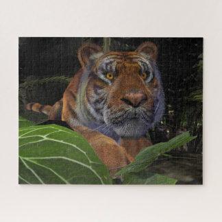 Puzzle Tigre que se agacha