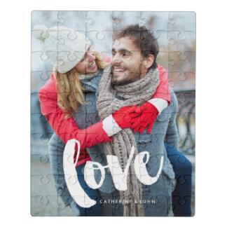 """Puzzle Tipografía """"amor """" del cepillo"""